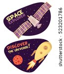 space explorer concept | Shutterstock .eps vector #523201786