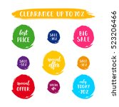 a set of sale cards vector... | Shutterstock .eps vector #523206466