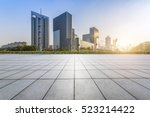 empty floor with modern... | Shutterstock . vector #523214422