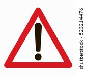 warning sign vector | Shutterstock .eps vector #523214476