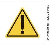 hazard warning attention sign.  | Shutterstock .eps vector #523214488