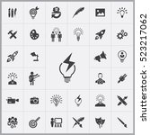 creative process icons... | Shutterstock .eps vector #523217062