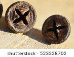 eucalyptus seed macro | Shutterstock . vector #523228702