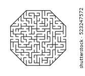 vector labyrinth. maze  ... | Shutterstock .eps vector #523247572