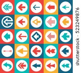 arrows sign   vector icons set. ... | Shutterstock .eps vector #523249876