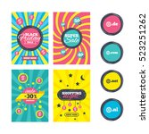 sale website banner templates.... | Shutterstock . vector #523251262