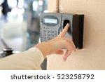 finger print scan for enter...   Shutterstock . vector #523258792