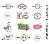 set vector logo isolated on... | Shutterstock .eps vector #523260076