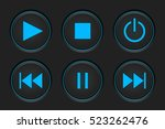 media player buttons on dark...