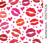 pink lipstick closed and open ...   Shutterstock . vector #523273126