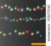 set of color garlands ... | Shutterstock .eps vector #523275262