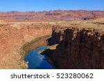 beautiful  scenic glen canyon... | Shutterstock . vector #523280062