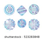 holographic collection shapes... | Shutterstock .eps vector #523283848