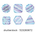 holographic set stickers... | Shutterstock .eps vector #523283872