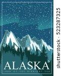 Alaska Travel Vector Poster....