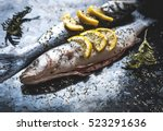 Fish Dish Cooking With Various...