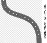 vector illustration curved road ... | Shutterstock .eps vector #523292686