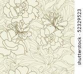 summer seamless wallpaper | Shutterstock .eps vector #52329523