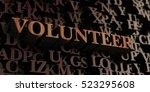 volunteer   wooden 3d rendered... | Shutterstock . vector #523295608