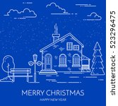 christmas and new year banner...   Shutterstock .eps vector #523296475