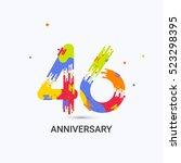 46 years anniversary  splash... | Shutterstock .eps vector #523298395