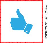 thumb up icon vector... | Shutterstock .eps vector #523298962