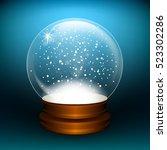 snowglobe. vector illustration. ... | Shutterstock .eps vector #523302286