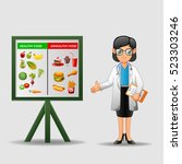 nutritionist illustration.... | Shutterstock .eps vector #523303246