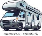 modern camper van illustration | Shutterstock .eps vector #523305076