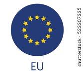 round european union flag...   Shutterstock .eps vector #523307335