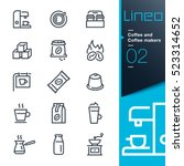 lineo   coffee line icons | Shutterstock .eps vector #523314652