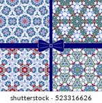 set of seamless patterns for... | Shutterstock .eps vector #523316626