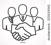 business people shaking hands  | Shutterstock .eps vector #523319542