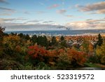 vancouver city at sunset in a... | Shutterstock . vector #523319572