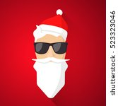 hipster santa claus with cool... | Shutterstock .eps vector #523323046