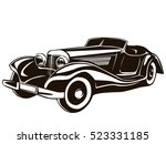 retro muscle car vector... | Shutterstock .eps vector #523331185