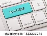 success word written on... | Shutterstock . vector #523331278