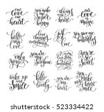 set of handwritten lettering... | Shutterstock .eps vector #523334422