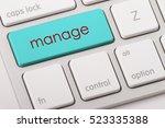 manage word written on computer ...   Shutterstock . vector #523335388
