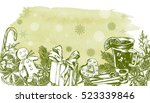 background with christmas... | Shutterstock .eps vector #523339846