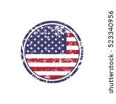 usa american grunge rubber... | Shutterstock .eps vector #523340956