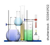 realistic chemical laboratory... | Shutterstock .eps vector #523341922