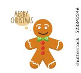 christmas greeting card with... | Shutterstock .eps vector #523342246