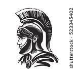 roman centurion soldier. sketch ... | Shutterstock .eps vector #523345402
