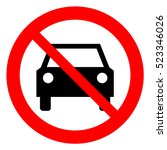 no cars allowed prohibition... | Shutterstock .eps vector #523346026