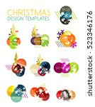 christmas or new year promo... | Shutterstock .eps vector #523346176