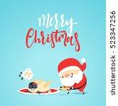 Santa Claus Gives A Gift Bone...