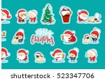 quirky santa claus funny... | Shutterstock .eps vector #523347706