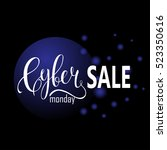 cyber monday sale label.... | Shutterstock .eps vector #523350616