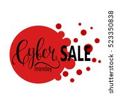 cyber monday sale label.... | Shutterstock .eps vector #523350838